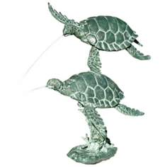 Frolicking Sea Turtles Fountain