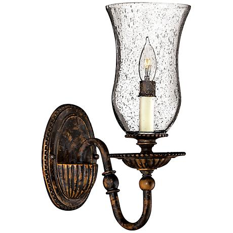 "Hinkley Rockford 13"" High Forum Bronze Wall Sconce"