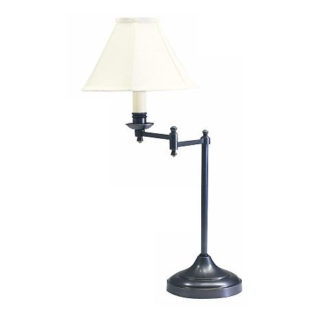 Club Collection Oil Rubbed Bronze Finish Swingarm Table Lamp