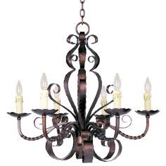 Aspen Collection Six Light Large Candle Chandelier