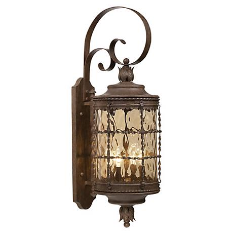 "Mallorca™ 34 1/4"" High Vintage Rust Outdoor Wall Light"