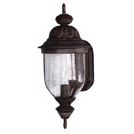 "Motion Sensor 18 3/4"" High Rustic Brown Outdoor Light"