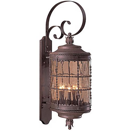"Mallorca™ 41 1/4"" High Vintage Rust Outdoor Wall Light"