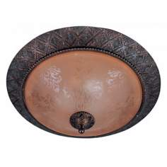 "Symphony Oil-Rubbed Bronze 19"" Wide Ceiling Light Fixture"