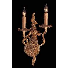 Metropolitan Asian Man Two Light Right Wall Sconce