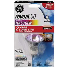 GE Reveal 50 Watt GU10 Halogen Light Bulb