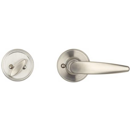 Schlage Dover Satin Steel Inside Door Lever and Lock