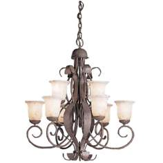 "High Country Collection 35"" Wide 9-Light Chandelier"