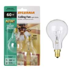 Sylvania 2-Pack 60 Watt A15 Ceiling Fan Light Bulbs