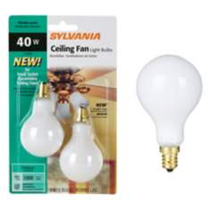 White 2-Pack 40 Watt A15 Candle Base Fan Light Bulbs