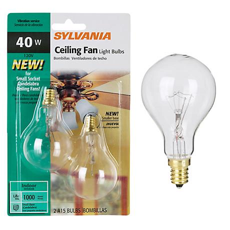 Tesler 40 Watt 2 Pack Clear Ceiling Fan Candelabra Bulbs 96669 Lampsplus Com
