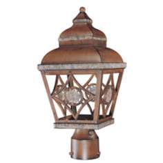 "Fleur Medallion 13 1/2"" High Dark Sky Outdoor Post Mount"