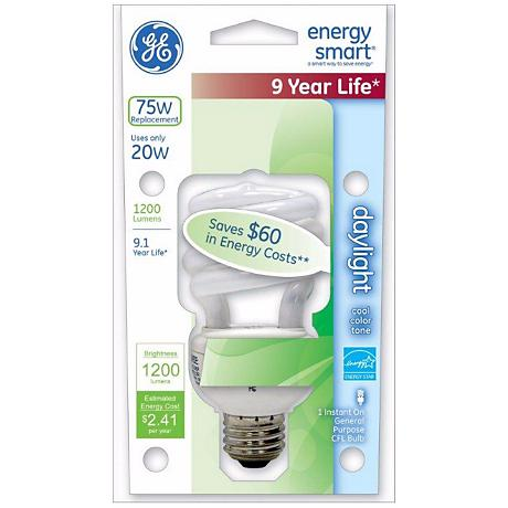 20 Watt CFL Daylight ENERGY STAR® Light Bulb