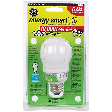 11 Watt CFL Ceiling Fan ENERGY STAR® Light Bulb