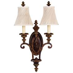 "Edwardian Collection 24"" High Two Light Wall Sconce"