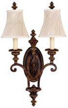"Feiss Edwardian Collection 24"" High Two Light Wall Sconce"