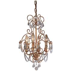"Regency 13"" Wide 4-Light Mini Chandelier"