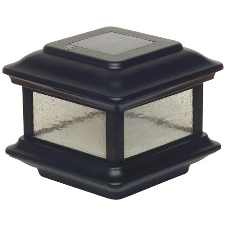 Colonial Black Outdoor 4x4 Solar Powered Post Cap