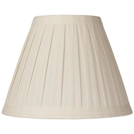 Creme Linen Box Pleat Lamp Shade 7x14x11 (Spider)
