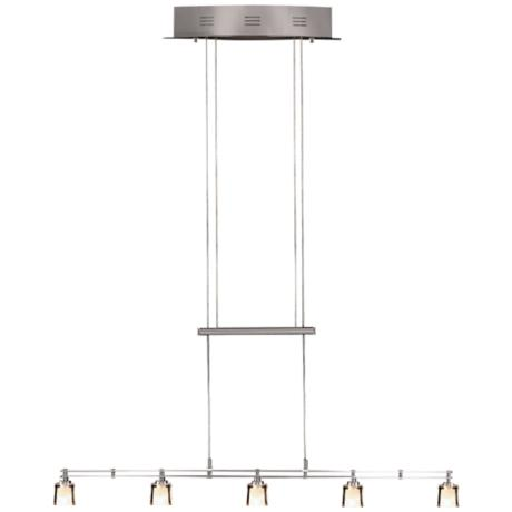 Holtkoetter Five Light Nickel Adjustable Island Chandelier
