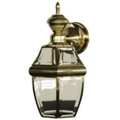 "Motion Sensor 14 1/2"" High Polished Brass Outdoor Light"