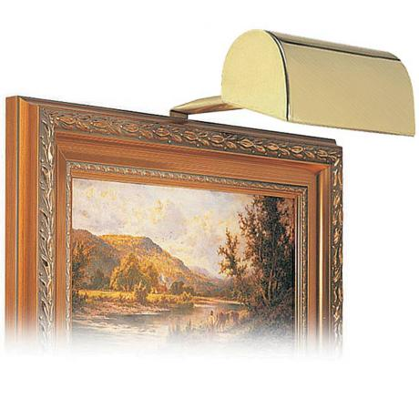 "House of Troy 5"" Wide Satin Brass Plug-in Picture Light"