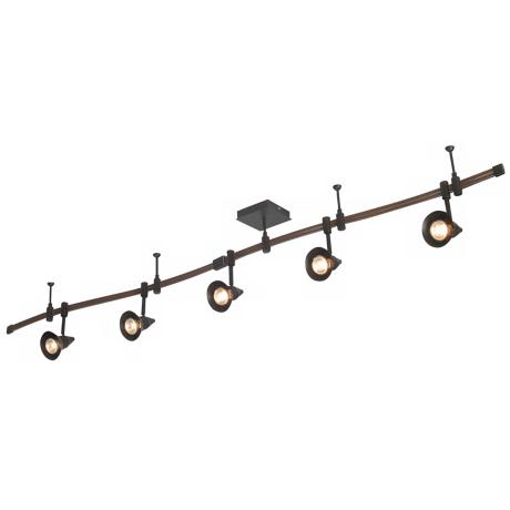 Nimbus Collection Five Light Bronze Track Kit