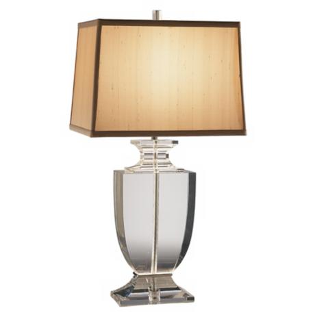 Artemis Clear Lead Crystal Table Lamp with Cafe Shade