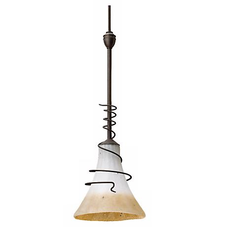 "Bronze 1 Light Saratoga Convertible 6 1/4"" Wide Mini Pendant"