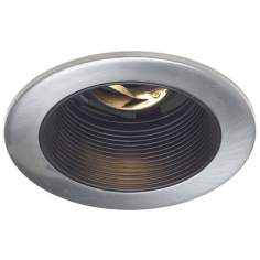 "Juno 4"" Low Voltage Satin Chrome Baffle Trim Recessed Light"