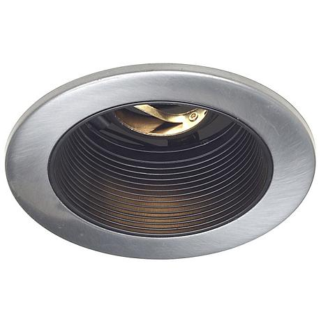 "Juno 4"" Low Voltage Satin Chrome Recessed Light Trim"