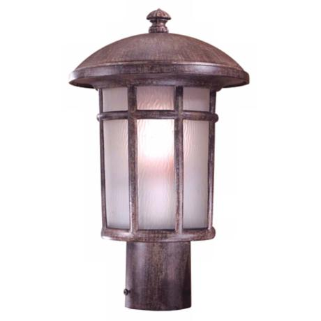 "Cranston Rust 14 3/4"" High Post Light"