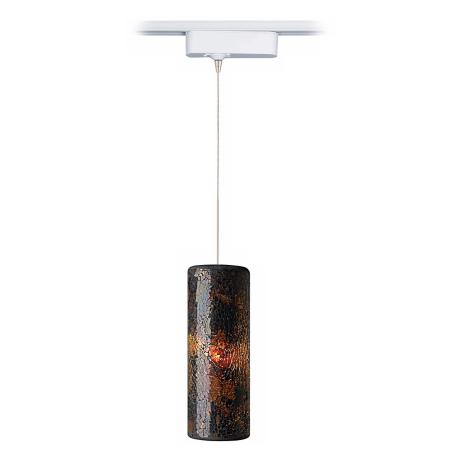 Veil Brown Glass Tech LED Pendant for Lightolier Track Systems