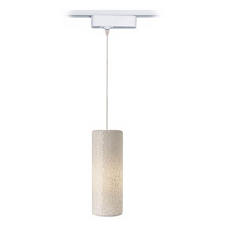 LED Veil White Glass Tech Pendant for Lightolier Track Systems