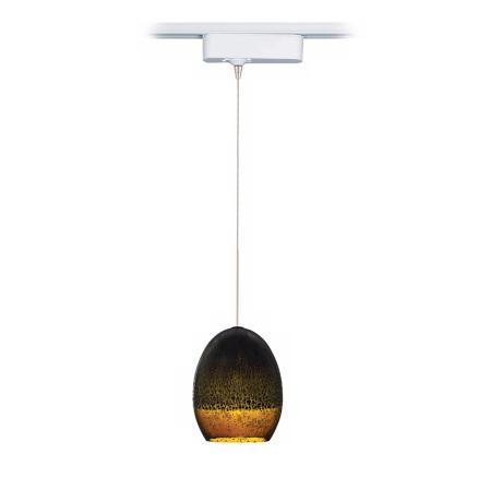 Silver Glaze Brown Tech Pendant for Lightolier Track Systems