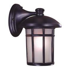 "Cranston12 3/4"" High Heritage Bronze Outdoor Wall Light"
