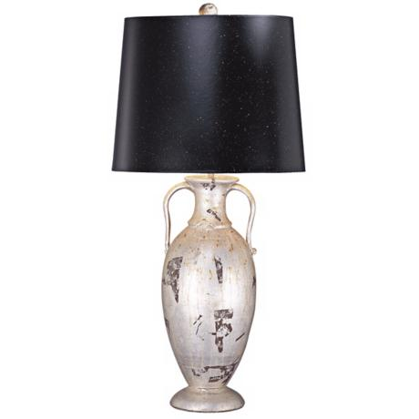 Flambeau Basin Silver Leaf Urn Table Lamp