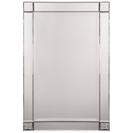 "Uttermost Emberlyn 31"" High Frameless Wall Mirror"