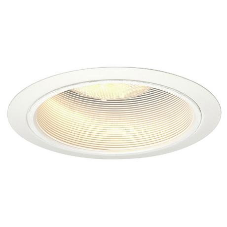 "Luminaire™ 6"" Line Voltage White Baffle Recessed Light"