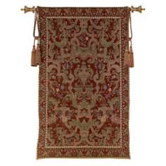 "Welch Cinnabar with Crown Wall 70"" High Tapestry"