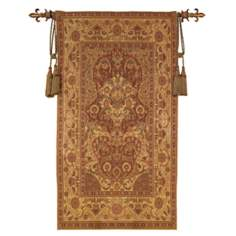"Andalusia Gold Chenille 70"" High Wall Tapestry"