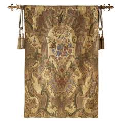 "Eminence Fleur-de-lis Gold 70"" High Wall Tapestry"