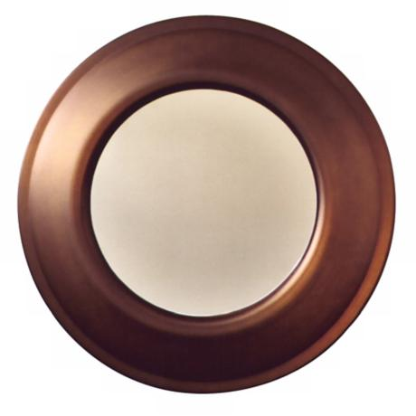 "Babette Holland Penny Bronze 26"" Wide Wall Mirror"