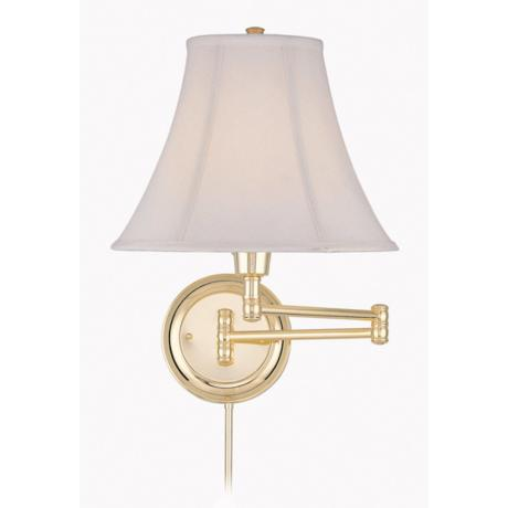 Lite Source Charleston Polished Brass Swing Arm Wall Lamp