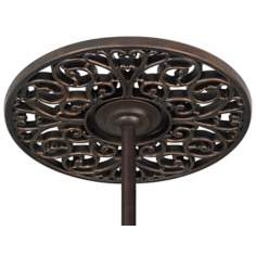 "Bronze Scroll 19 1/4"" Wide Ceiling Fan Ceiling Medallion"