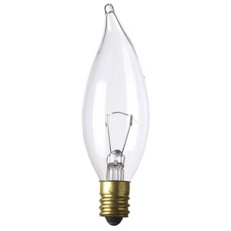 Bent-Tip 15 Watt 12 Volt Candelabra Light Bulb