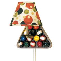 Billiard Themed Plug-In Wall Light