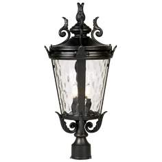 "Casa Marseille™ 25"" High Black Outdoor Post Light"