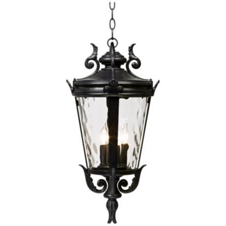 "Casa Marseille™ 23 3/4"" High Black Hanging Light"