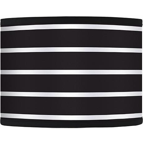 Bold Black Stripe Giclee Glow Lamp Shade 13.5x13.5x10 (Spider)